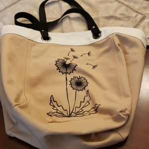 Thirty-One Tote Dandelion Tan & Blk GUC